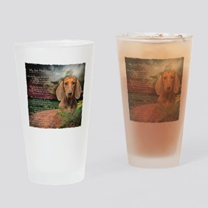 """Why God Made Dogs"" Dachshund Drinking Glass"